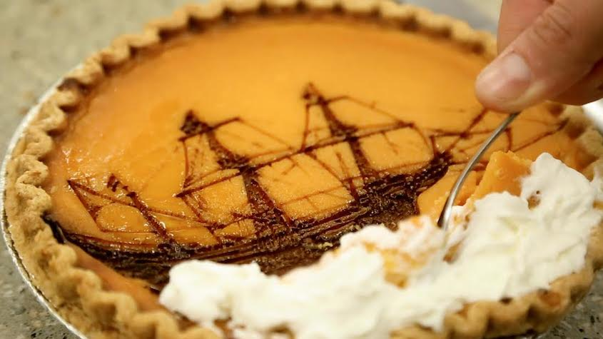 Lasers + pumpkin pie = holy ship!