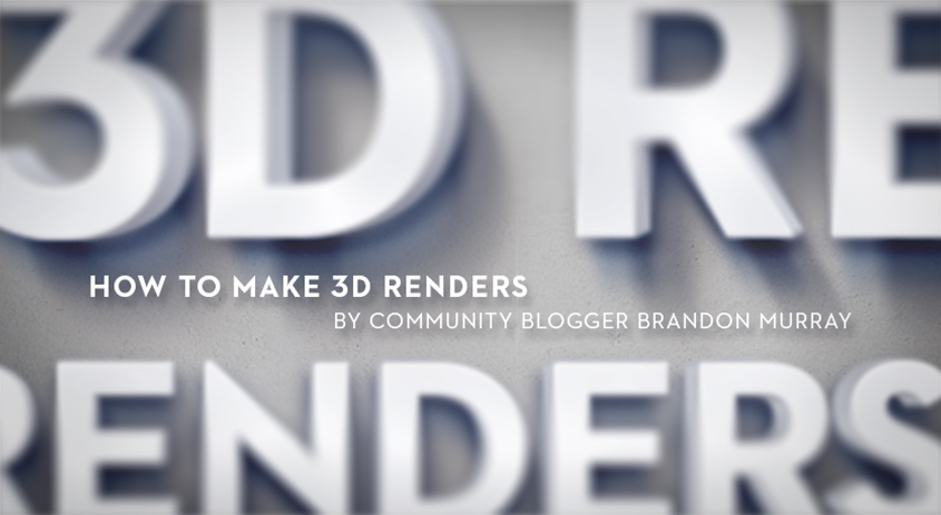 How to make 3D renders