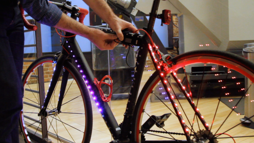 I made it: Sam Anderson's LED bike